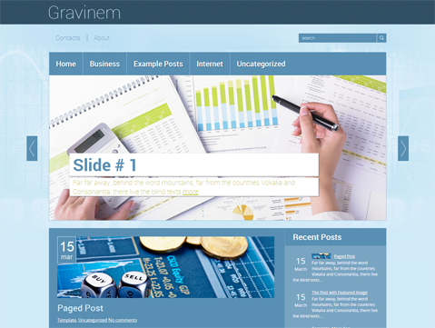 Gravinem Free WordPress Theme