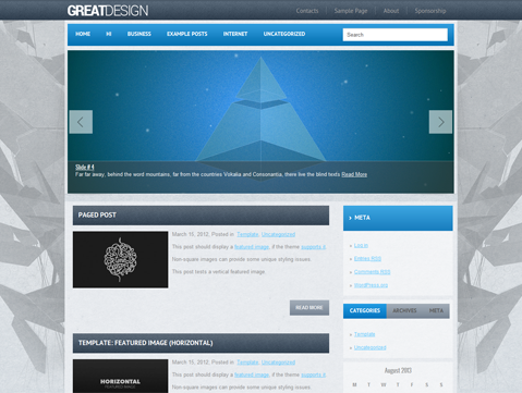 GreatDesign Free WordPress Theme