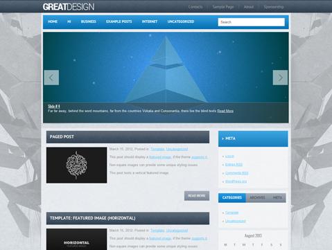 GreatDesign WordPress Theme