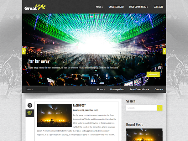 GreatNight Free WordPress Theme