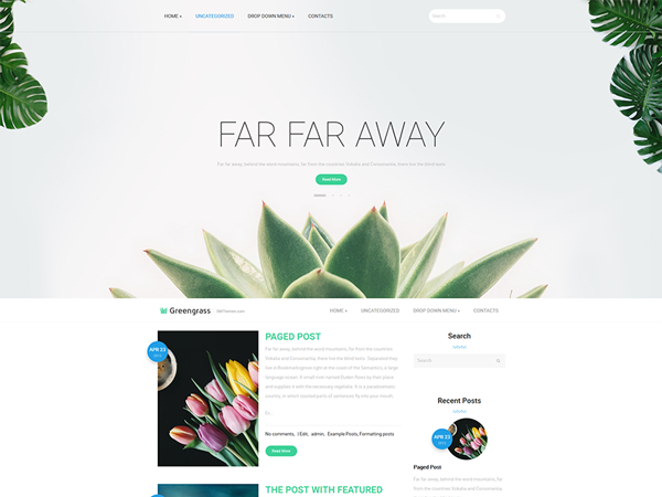 GreenGrass Free WordPress Theme