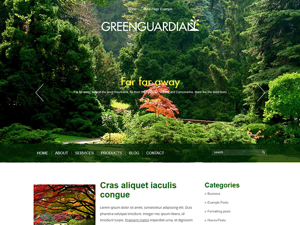 GreenGuard Free WordPress Theme