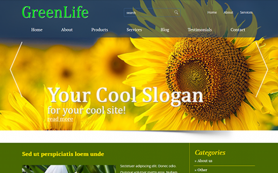 GreenLife Free WordPress Theme