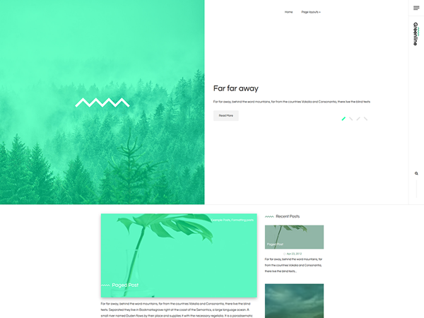 GreenLine Free WordPress Theme