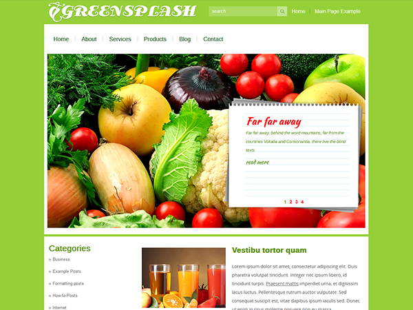 GreenSplash Free WordPress Theme