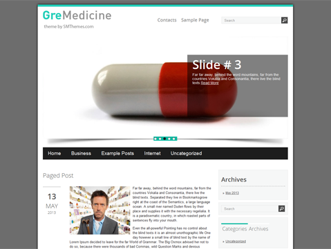 GreMedicine WordPress Theme