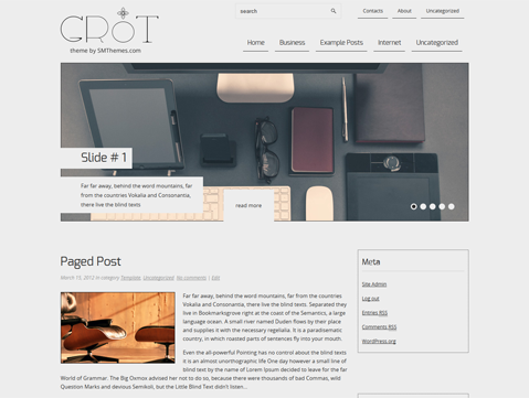 Grot Free WordPress Theme