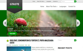GTaste Free WordPress Theme