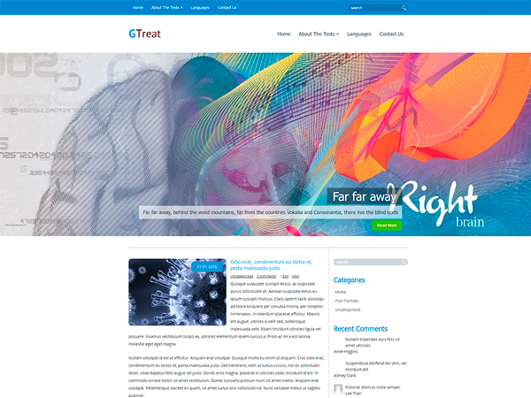GTreat WordPress Theme