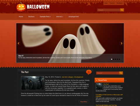 Halloween Free WordPress Theme