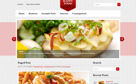 HappyFood Free WordPress Theme