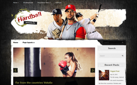 HardBall Free WordPress Theme