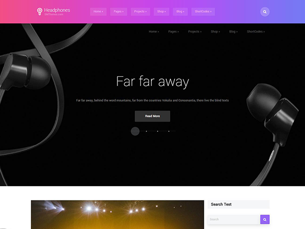 HeadPhones Free WordPress Theme
