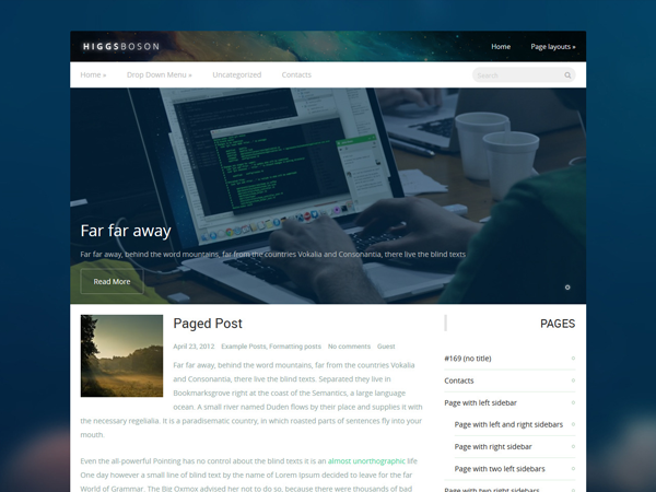 HiggsBoson WordPress Theme