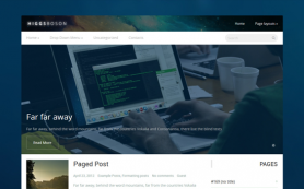HiggsBoson Free WordPress Theme