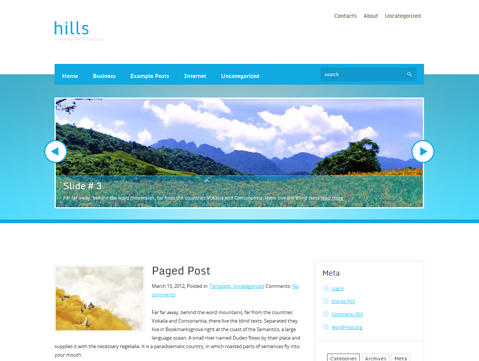 Hills Free WordPress Theme