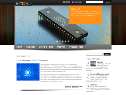 HiTech WordPress Theme