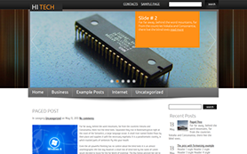 HiTech Free WordPress Theme