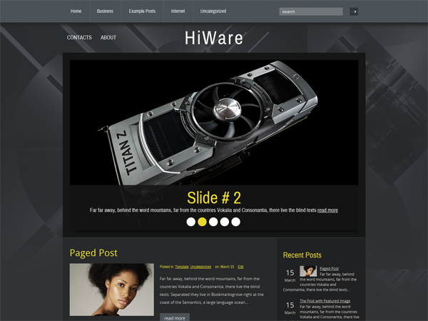 HiWare Free WordPress Theme
