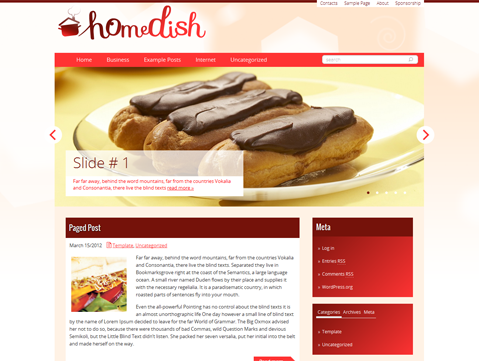 HomeDish Free WordPress Theme