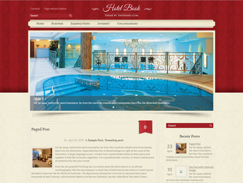 HotelBook WordPress Theme