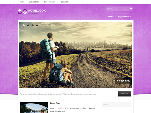 HotelLook Free WordPress Theme