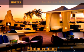 Hotels Free WordPress Theme