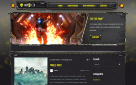 HotSteel Free WordPress Theme