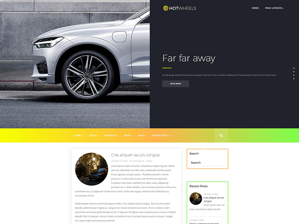 HotWheels Free WordPress Theme