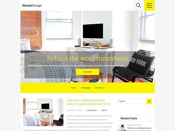 HouseDesign WordPress Theme