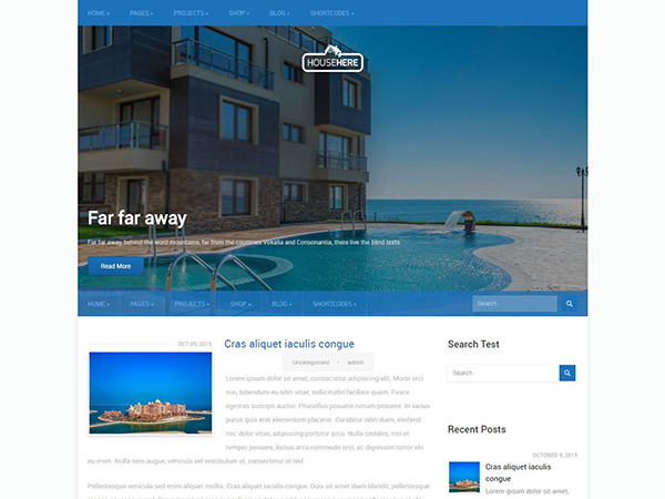 HouseHere Free WordPress Theme