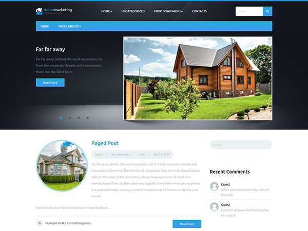 HouseMarketing Free WordPress Theme