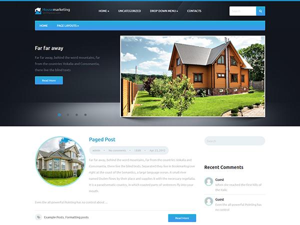 HouseMarketing Free WordPress Theme