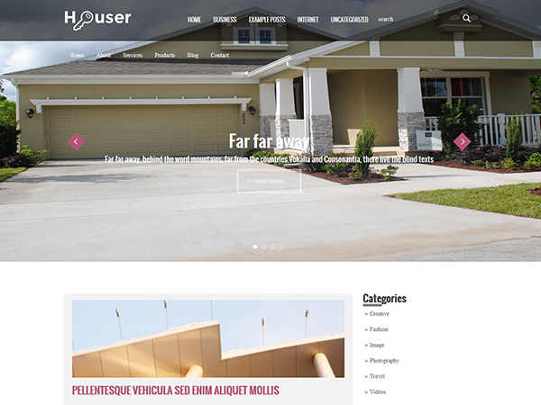 Houser Free WordPress Theme