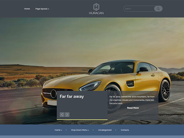 Huracan Free WordPress Theme