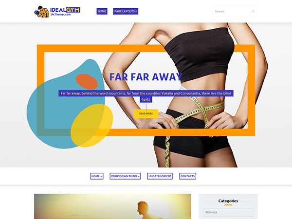IdealGym Free WordPress Theme