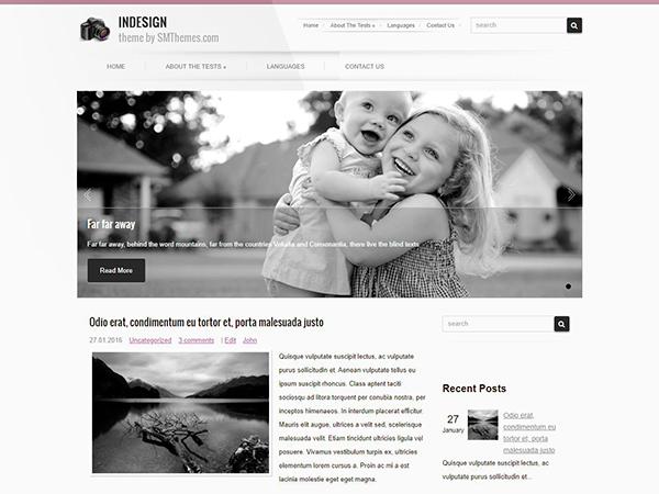 InDesign Free WordPress Theme