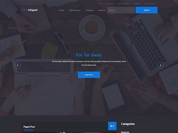 InfoGeek Free WordPress Theme