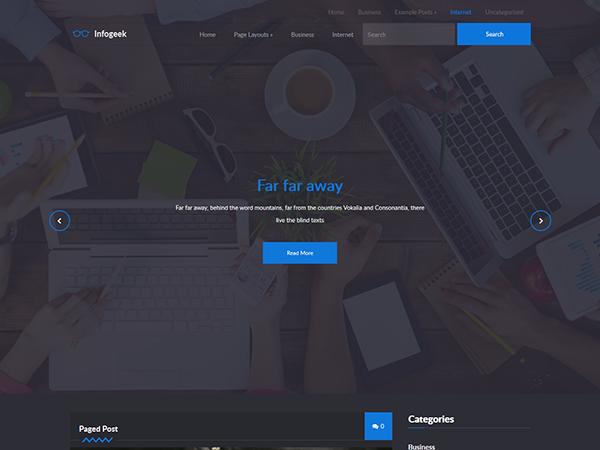 InfoGeek WordPress Theme