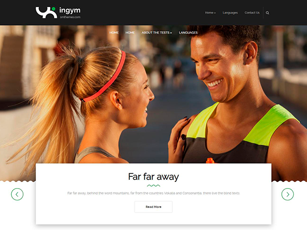 InGym Free WordPress Theme