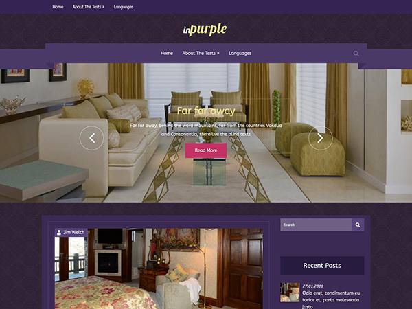 InPurple Free WordPress Theme