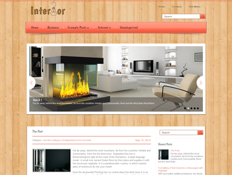 Interior Free WordPress Theme