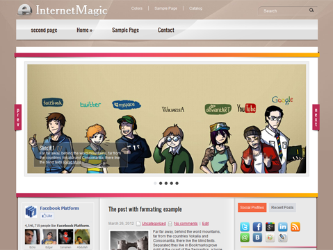 InternetMagic Free WordPress Theme