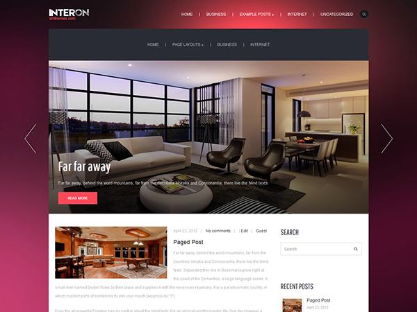 Interon Free WordPress Theme