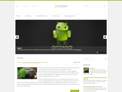 JellyBean Free WordPress Theme