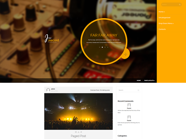 JRecord Free WordPress Theme
