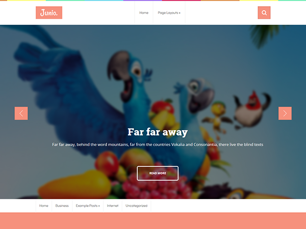 Junio Free WordPress Theme
