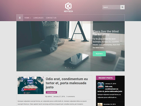 KeyTech Free WordPress Theme