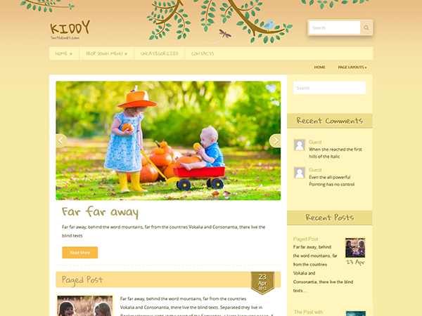 Kiddy Free WordPress Theme