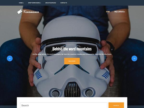 Kinomania Free WordPress Theme